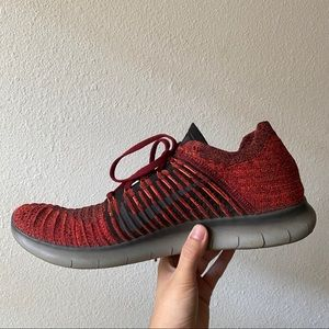 Nike Shoes - Nike Free RN Flyknit red/black/grey Running shoes